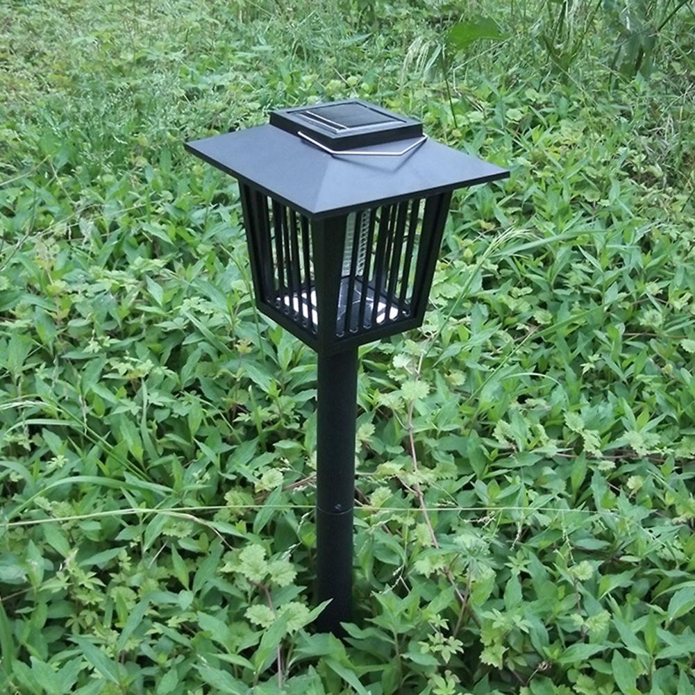 Objective Garden Yard Uv Solar Power Led Lamp Light Mosquito Insect Pest Bug Zapper Killer Various Styles Lights & Lighting Lawn Lamps